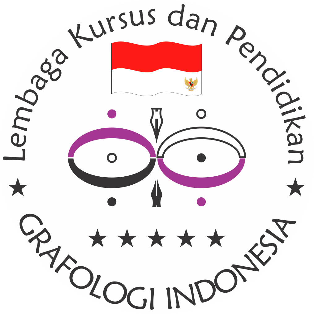 Cap Logo Grafologi Indonesia GI PNG (Lingkaran)