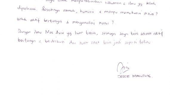 Testimoni Joice Manurung